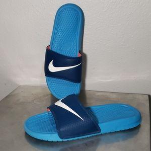 Nike Benassi 9 Ocean Blue/Navy Slides